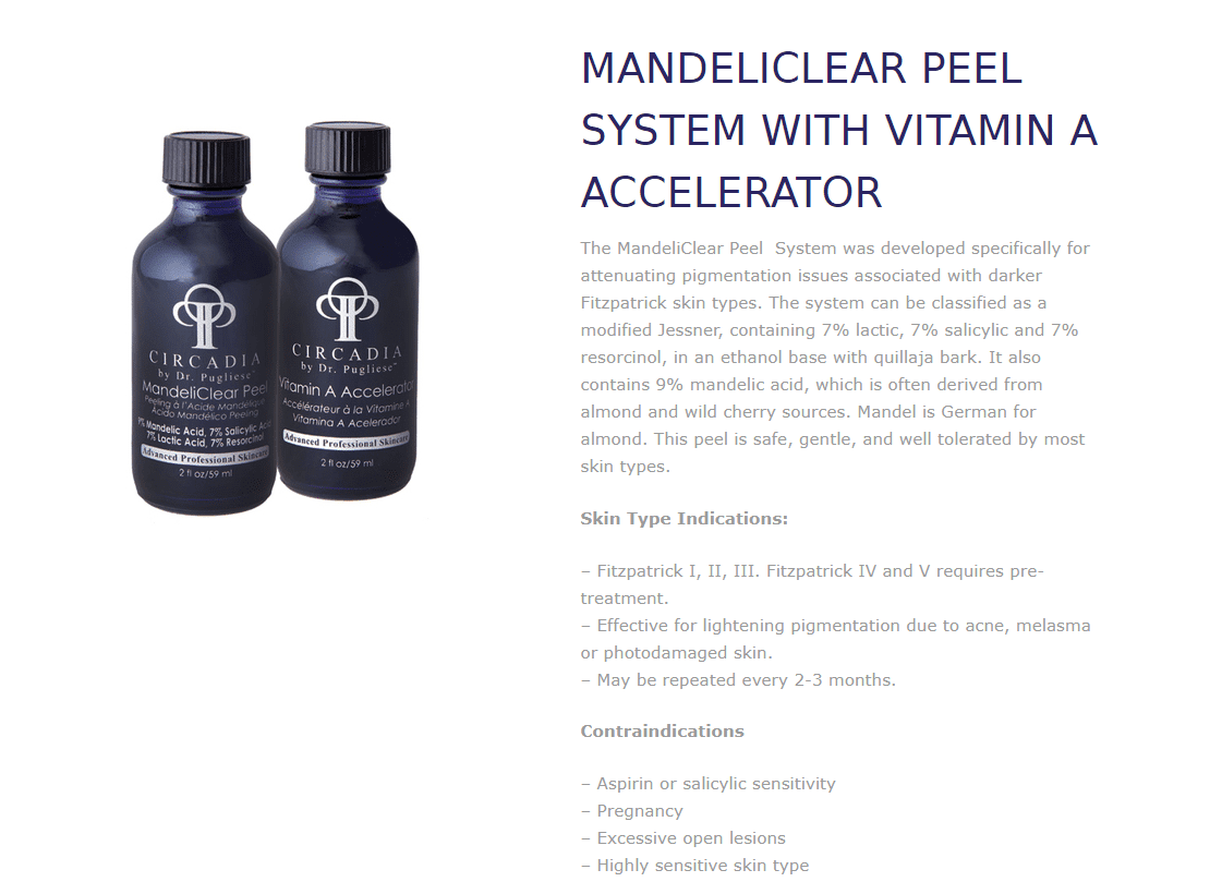 MANDELICLEAR PEEL SYSTEM WITH VITAMIN A ACCELERATOR